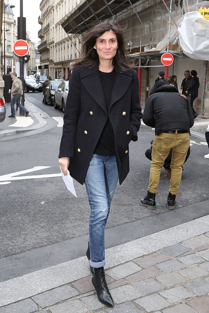 Emmanuelle Alt in the Cat Bootie