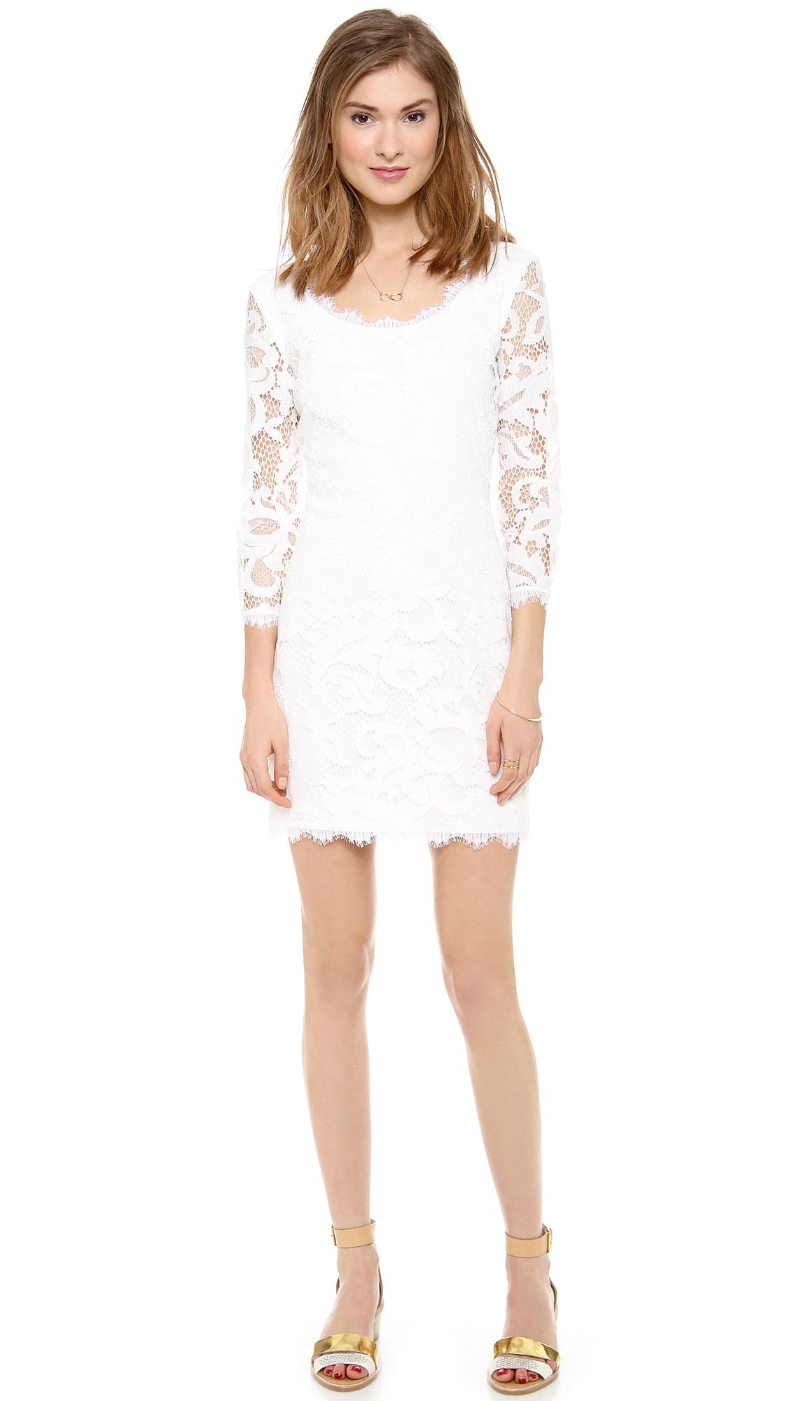 Diane von Furstenberg White Lace Dress