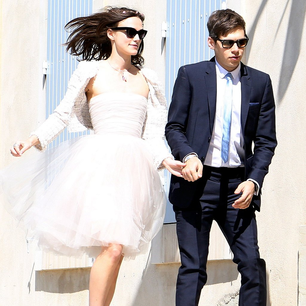 Keira Knightley Spills Red Wine on Wedding Dress