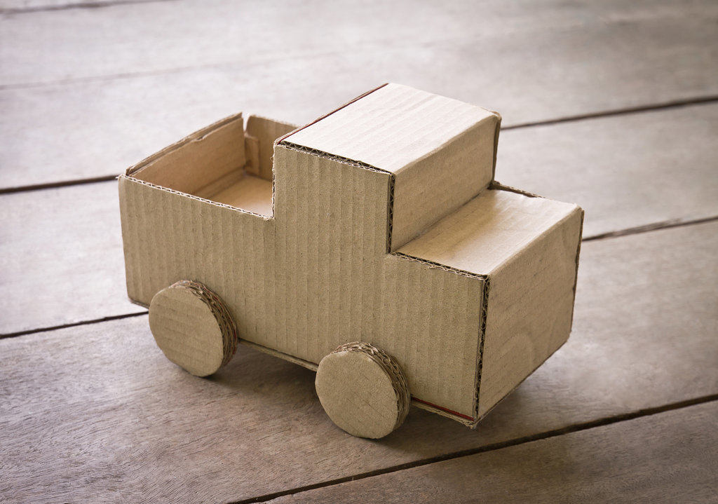 Cardboard box projects for kids popsugar moms for Craft box for toddlers