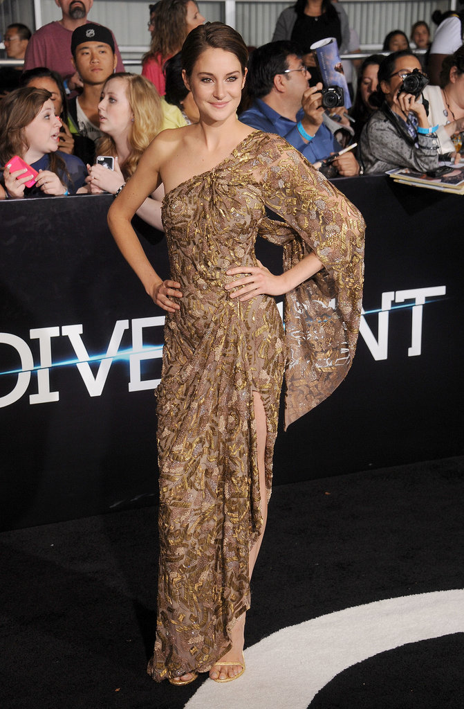 Shailene Woodley at the Divergent Los Angeles Premiere