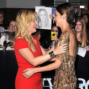 Shailene Woodley Hugging Pictures at Divergent LA Premiere