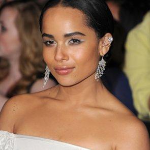 Zoe Kravitz White Eyeshadow at LA premiere of Divergent