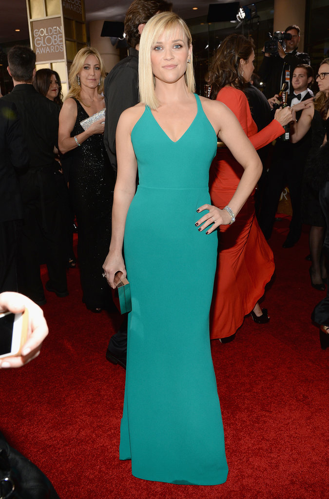 Reese Witherspoon in Calvin Klein Collection at 2014 Golden Globe Awards