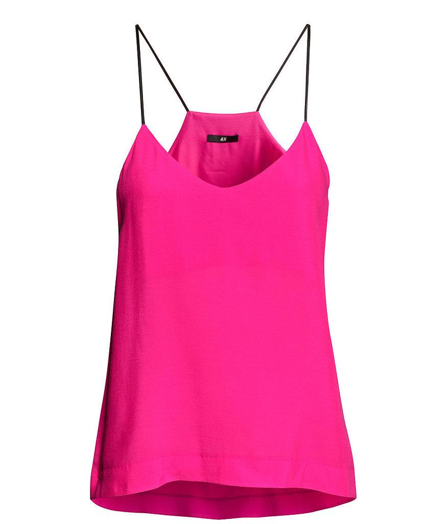 H&m Hot Pink Skinny-strap Tank