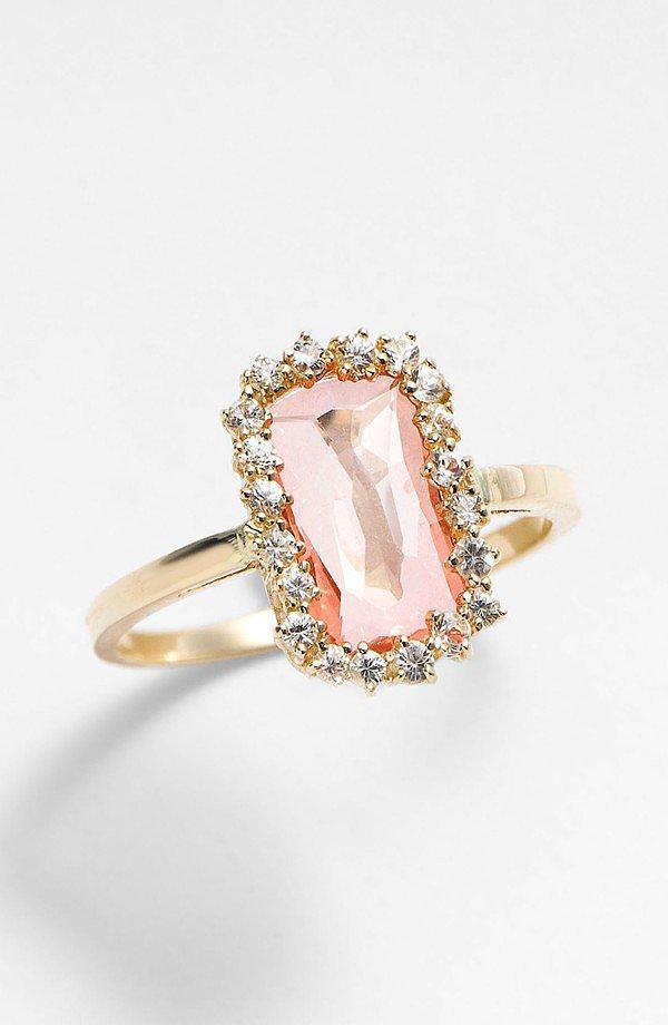 Kalan by Suzanne Kalan Barrel Stone Ring ($880)