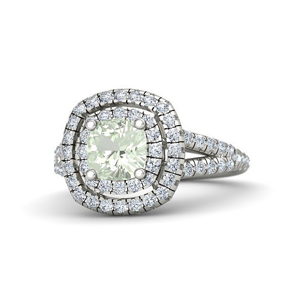 Gemvara Lillian Ring With Green Amethyst ($2,160)