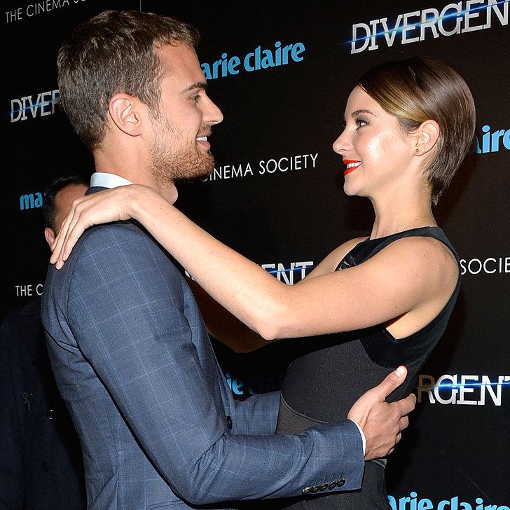 Divergent premiere: Kate Winslet, Shailene Woodley and ...  Shailene Woodley And Theo James Divergent Premiere