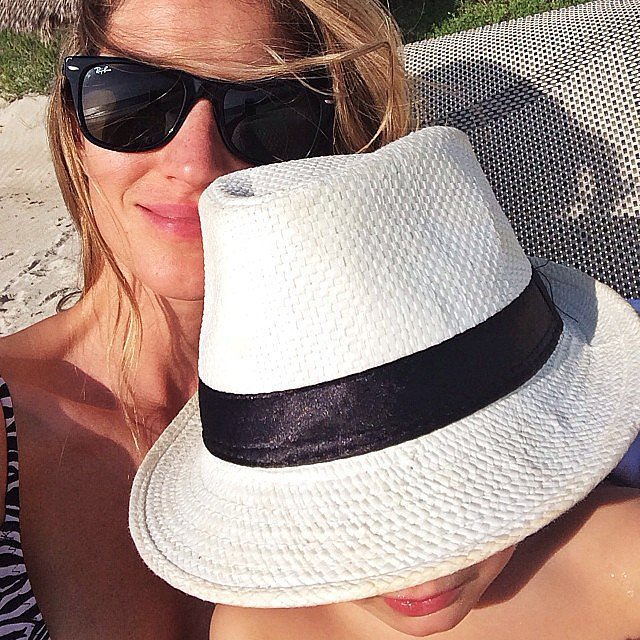 Gisele Bündchen and Ben Brady soaked up some vitamin D in the sun. Source: Instagram user giselebundchen
