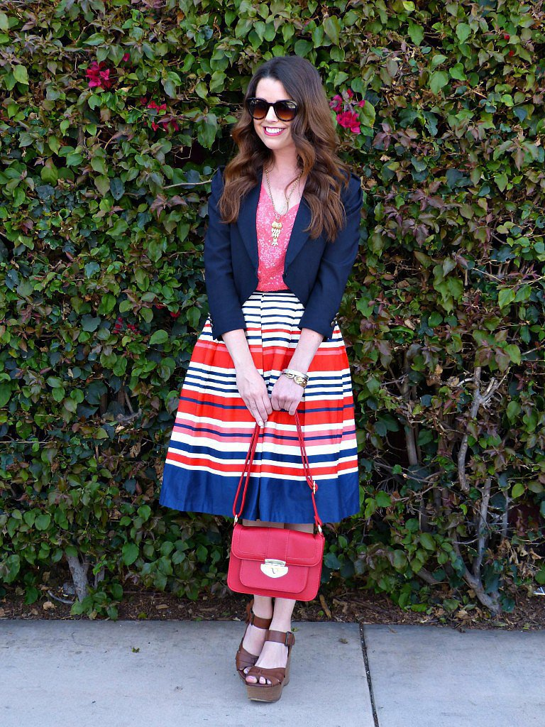Congrats, Abigail! This is striped perfection.