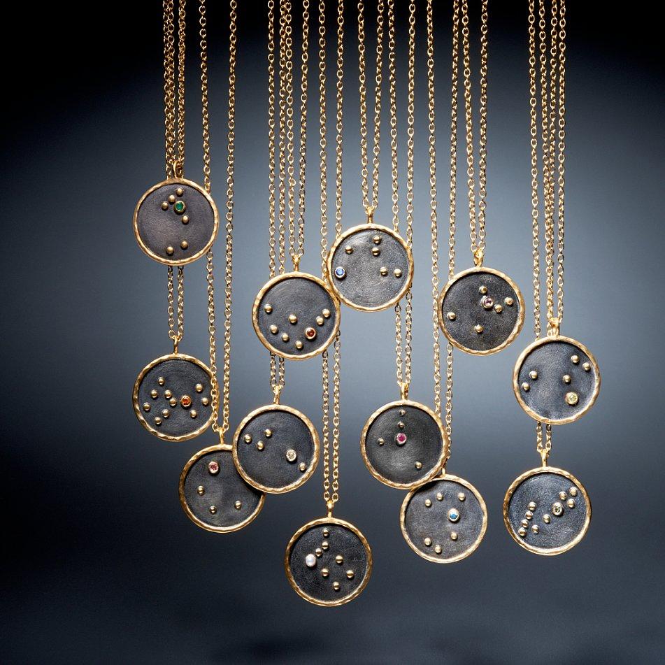 satya zodiac disc necklace review popsugar fashion