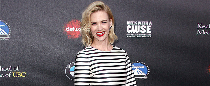 We'd Be Smiling, Too, If We Had a Dress as Adorable as January Jones's