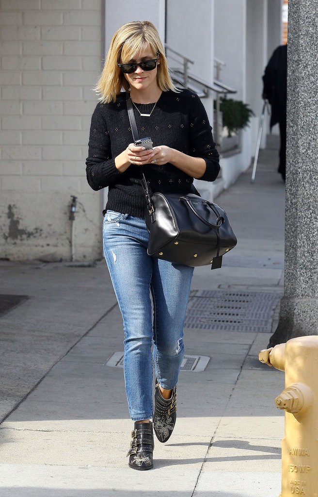 Reese Witherspoon in Studded Chloé Boots