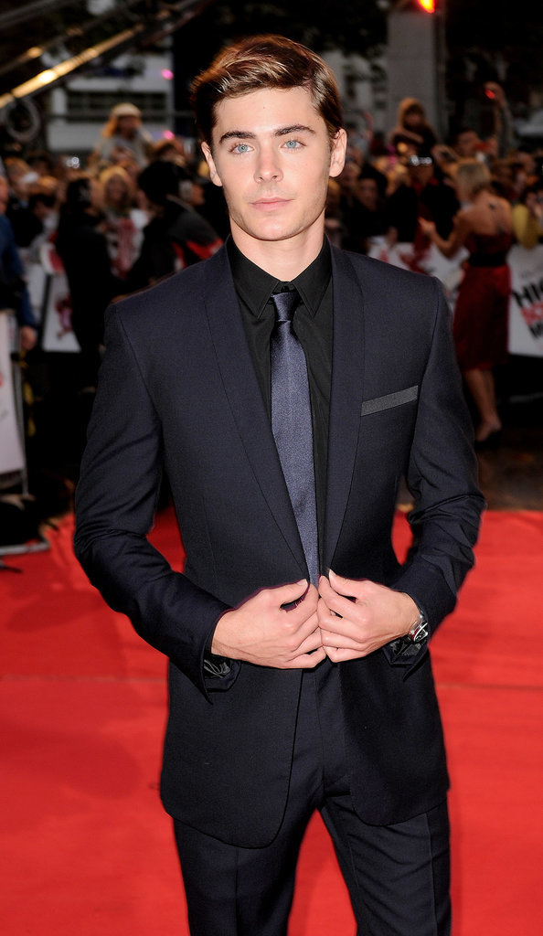 And later suited up for the High School Musical 3 premiere.