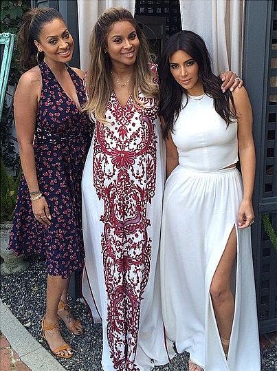"""Celebrating @Ciara's baby shower today with @lala #mommymemories,"" Kim wrote in her Instagram caption. Source: Instagram user kimkardashian"