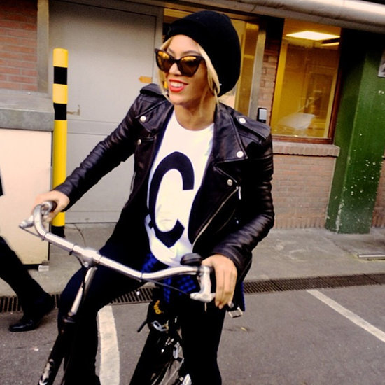 Beyonce on a Bike Ride With Blue Ivy Carter and Jay Z
