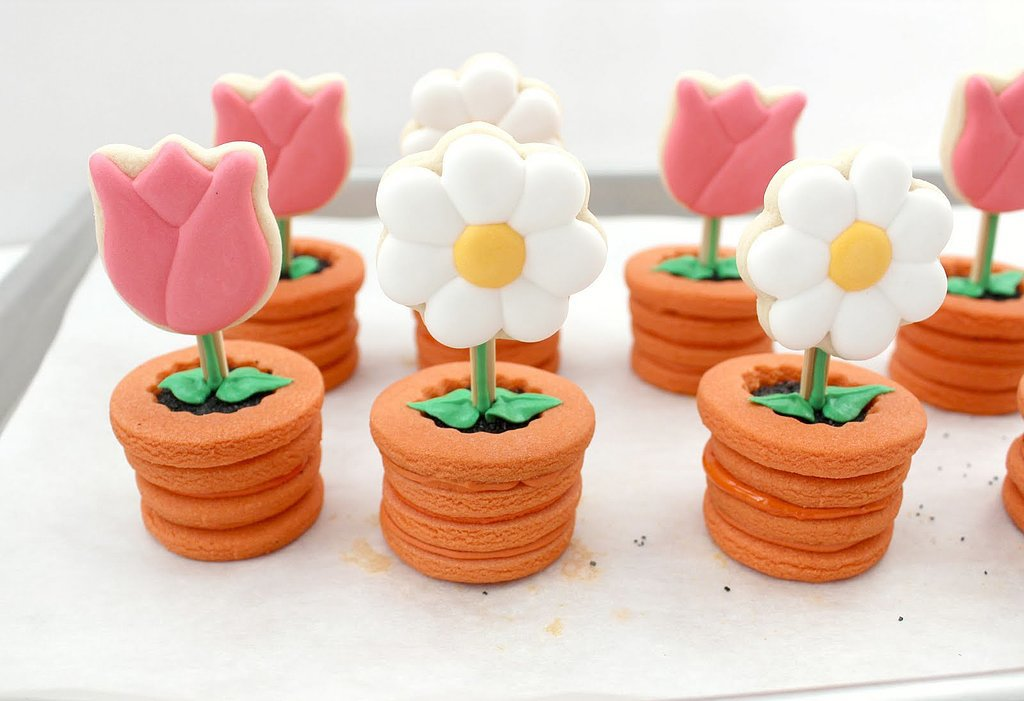 Potted Flower Cookies