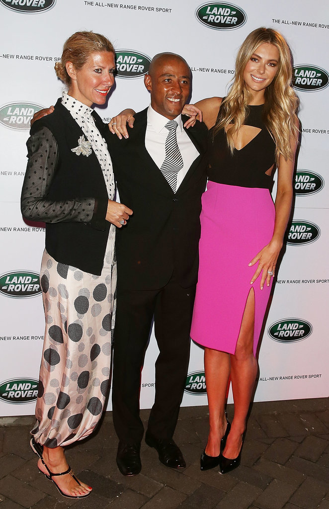 Sarah-Jane Clark, George Gregan and Jennifer Hawkins at a 2013 Range Rover Sport Event