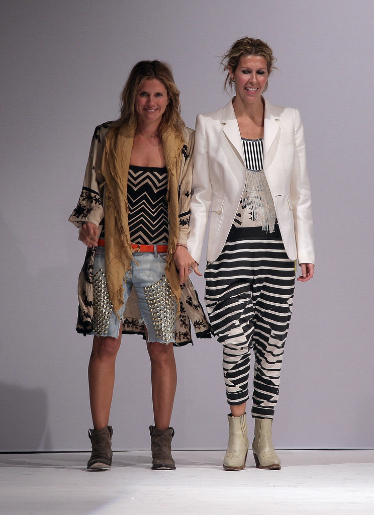 Sarah-Jane Clarke and Heidi Middleton at Spring 2010 London Fashion Week