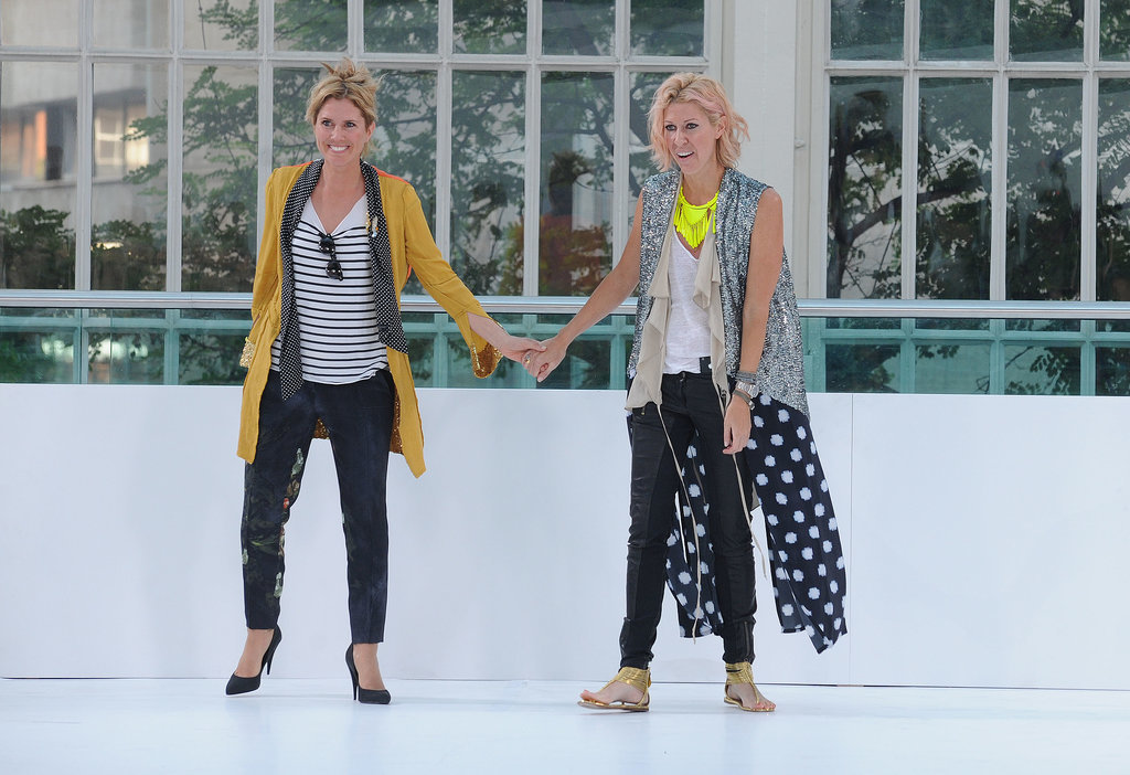 Sarah-Jane Clarke and Heidi Middleton at Spring 2012 London Fashion Week
