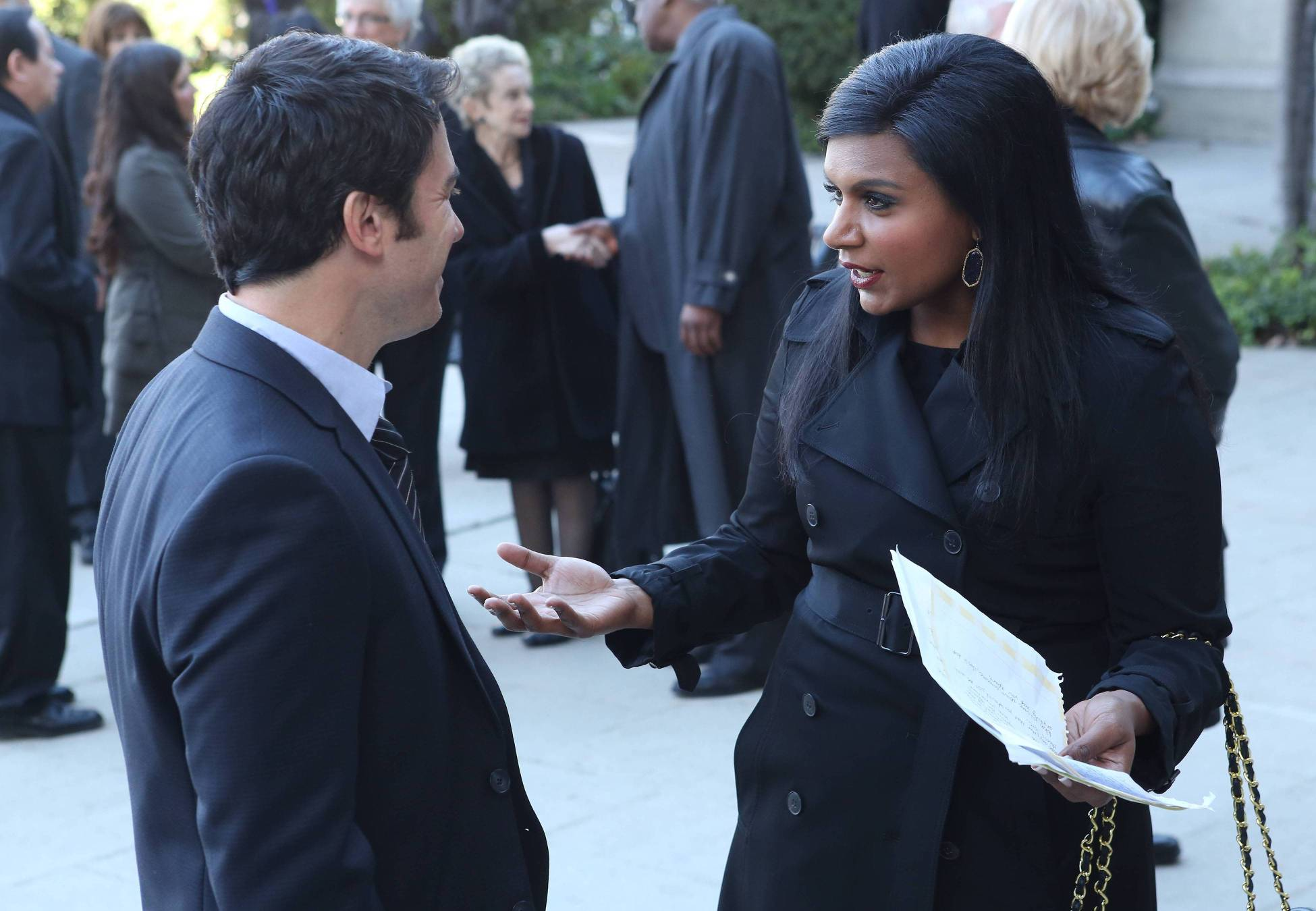 """Mindy and Danny in """"Kiss Me, You Idiot,"""" the first part of the two-part episode."""