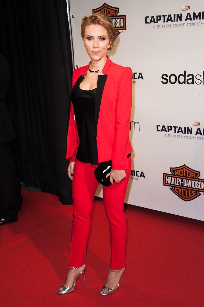 Scarlett Johansson in a Michael Kors Suit