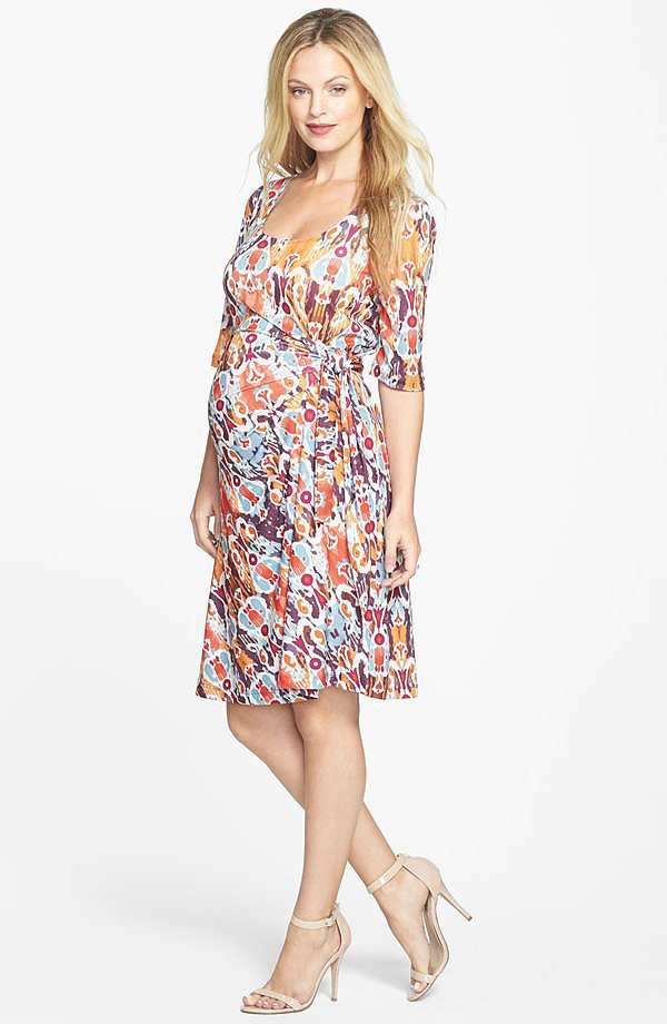 Japanese Weekend Maternity High/Low Dress