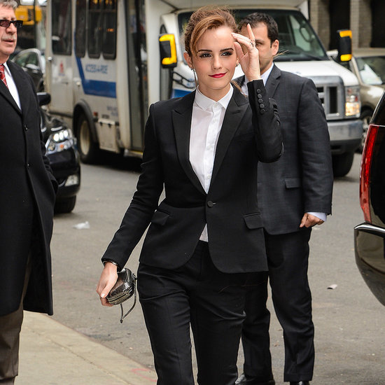 Emma Watson Saint Laurent Pantsuit Noah | Video