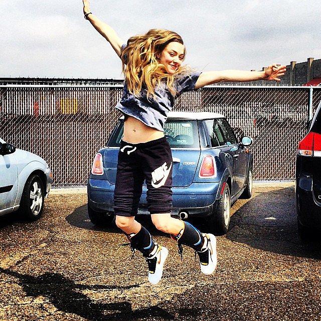 Amanda Seyfried jumped...