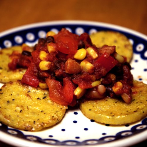 Vegan, Gluten-Free, and Under 300 Calories: Polenta and Beans