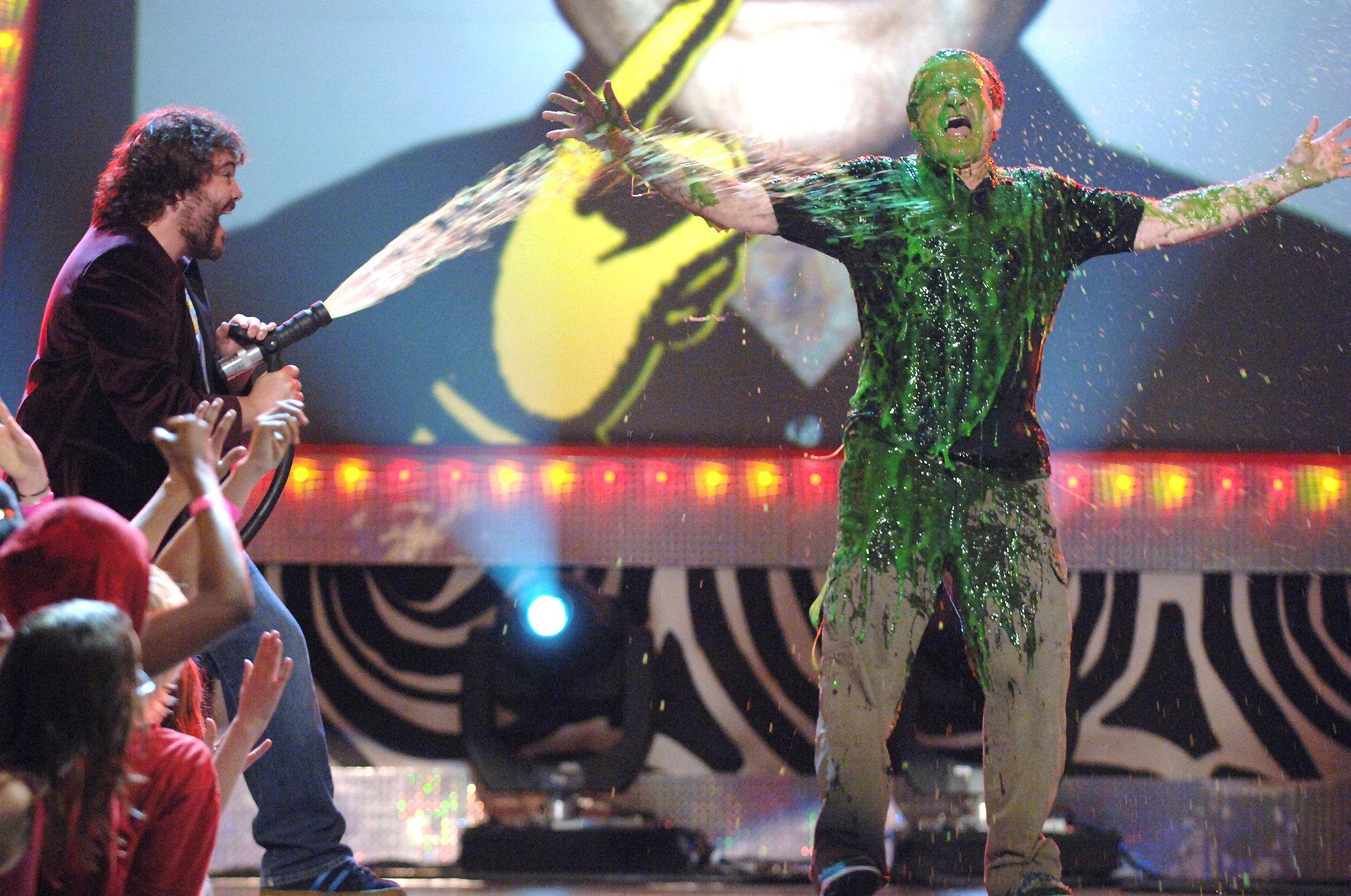Jack Black sprayed slime at Robin Williams in 2006.