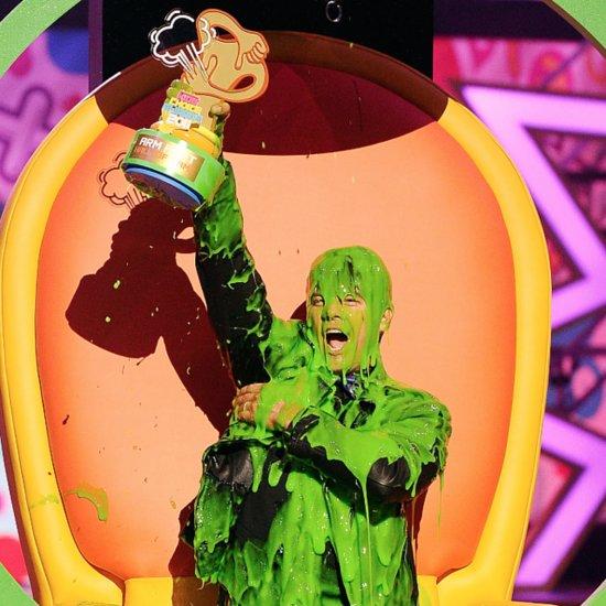 Celebrities Getting Slimed Nickelodeon Kids' Choice Awards