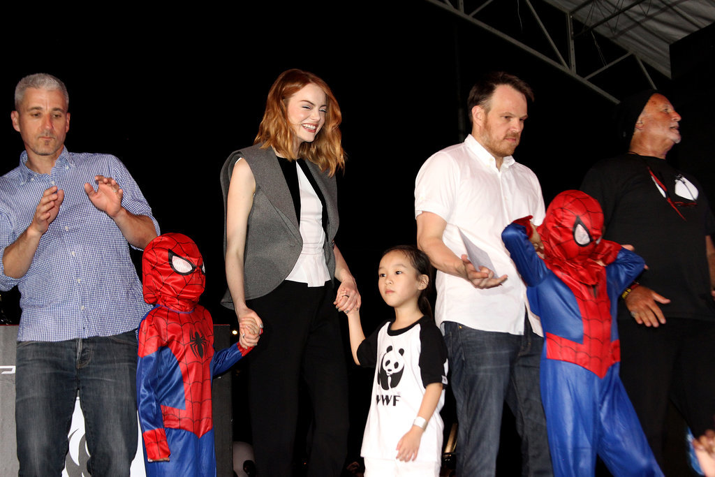 Director Marc Webb joined the stars on stage.