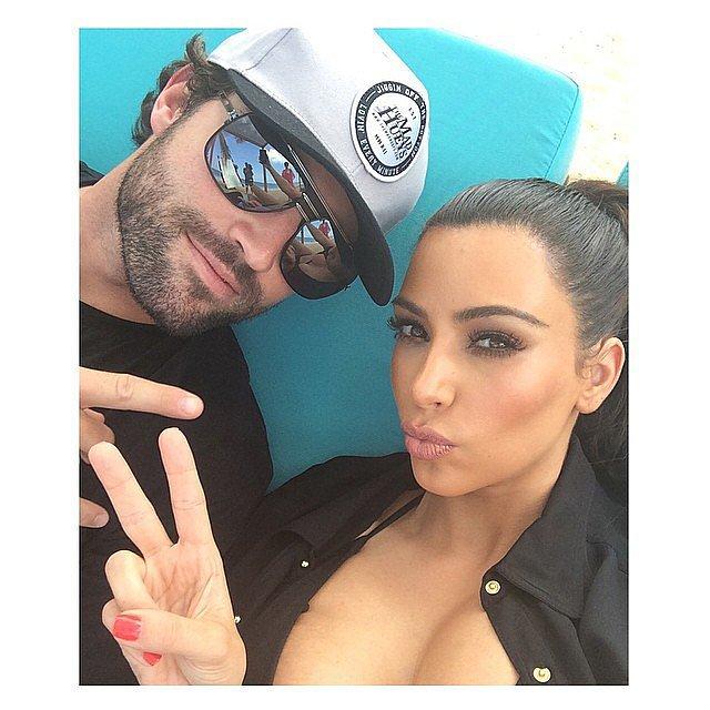 Kim and Brody had bonding time. Source: Instagram user kimkardashian