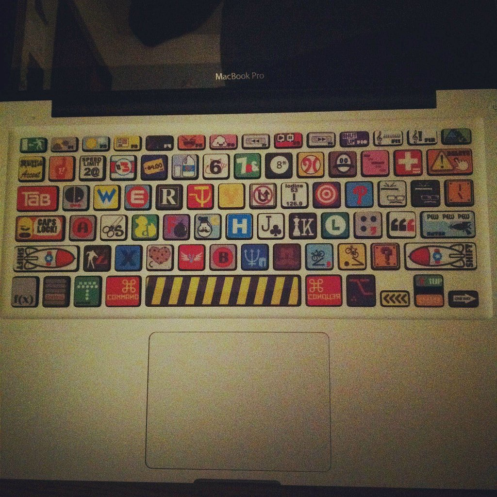 Cover a keyboard with weird ransom-note decals.  Source: Reddit user LegendOfBlainer via Imgur