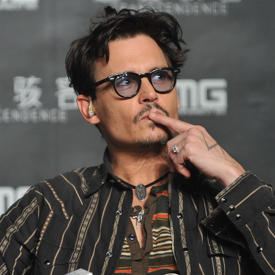Johnny Depp Wearing Amber Heard's Engagement Ring Pictures