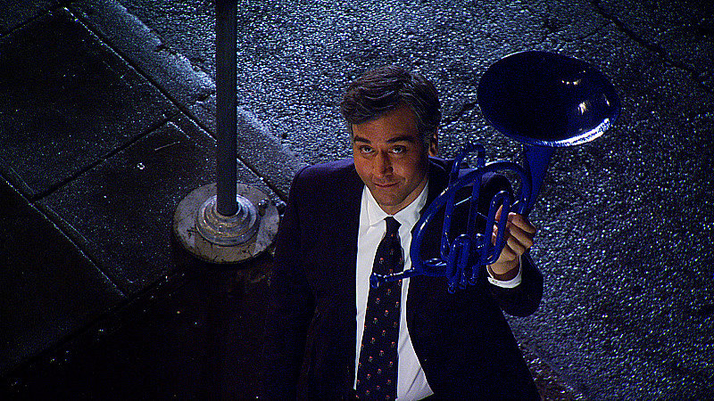 But wait! Ted whips out the blue French horn to present . . .
