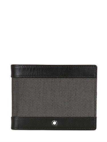 Montblanc - Meisterstuck Canvas 6cc Leather Wallet