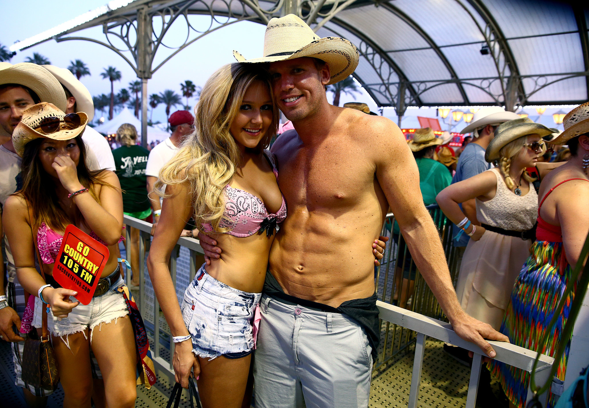 A pair of concert goers posed at Stagecoach.