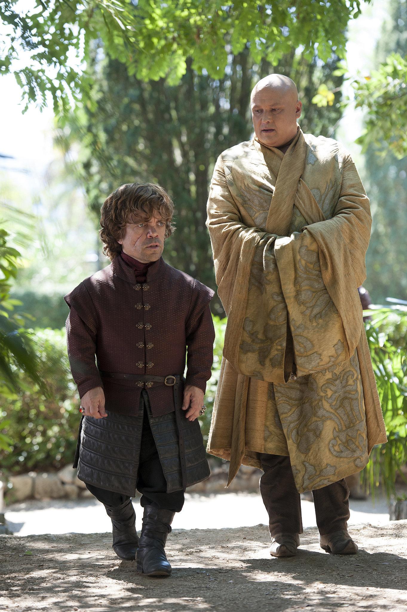Tyrion walks with Varys.