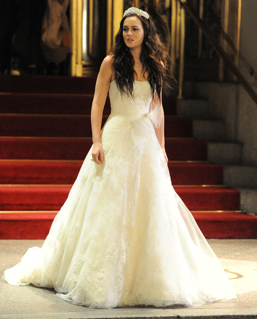 When the time comes try on multiple wedding dresses for Blair waldorf wedding dress