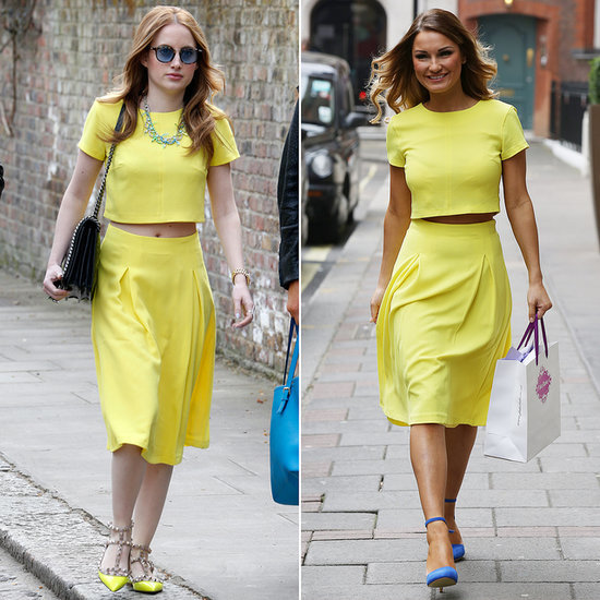 Rosie Fortescue and Sam Faiers in the Same Yellow Outfit
