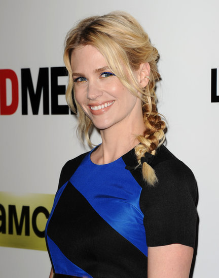 See Every Angle of January Jones's Multibraid and Blue Cat Eye