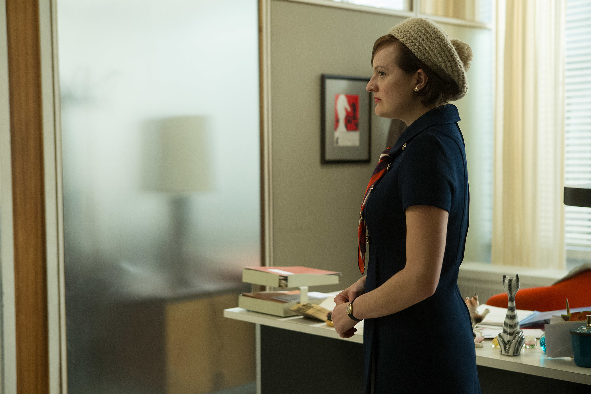 Elisabeth Moss as Peggy Olson on Mad Men.