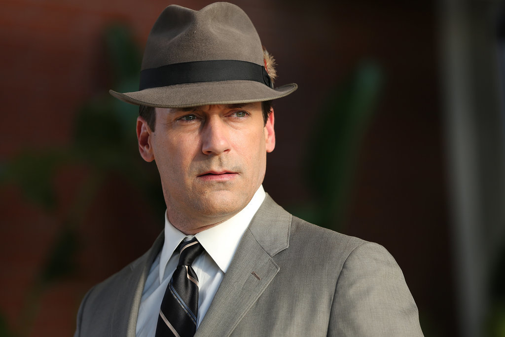 Jon Hamm as Don Draper on Mad Men.