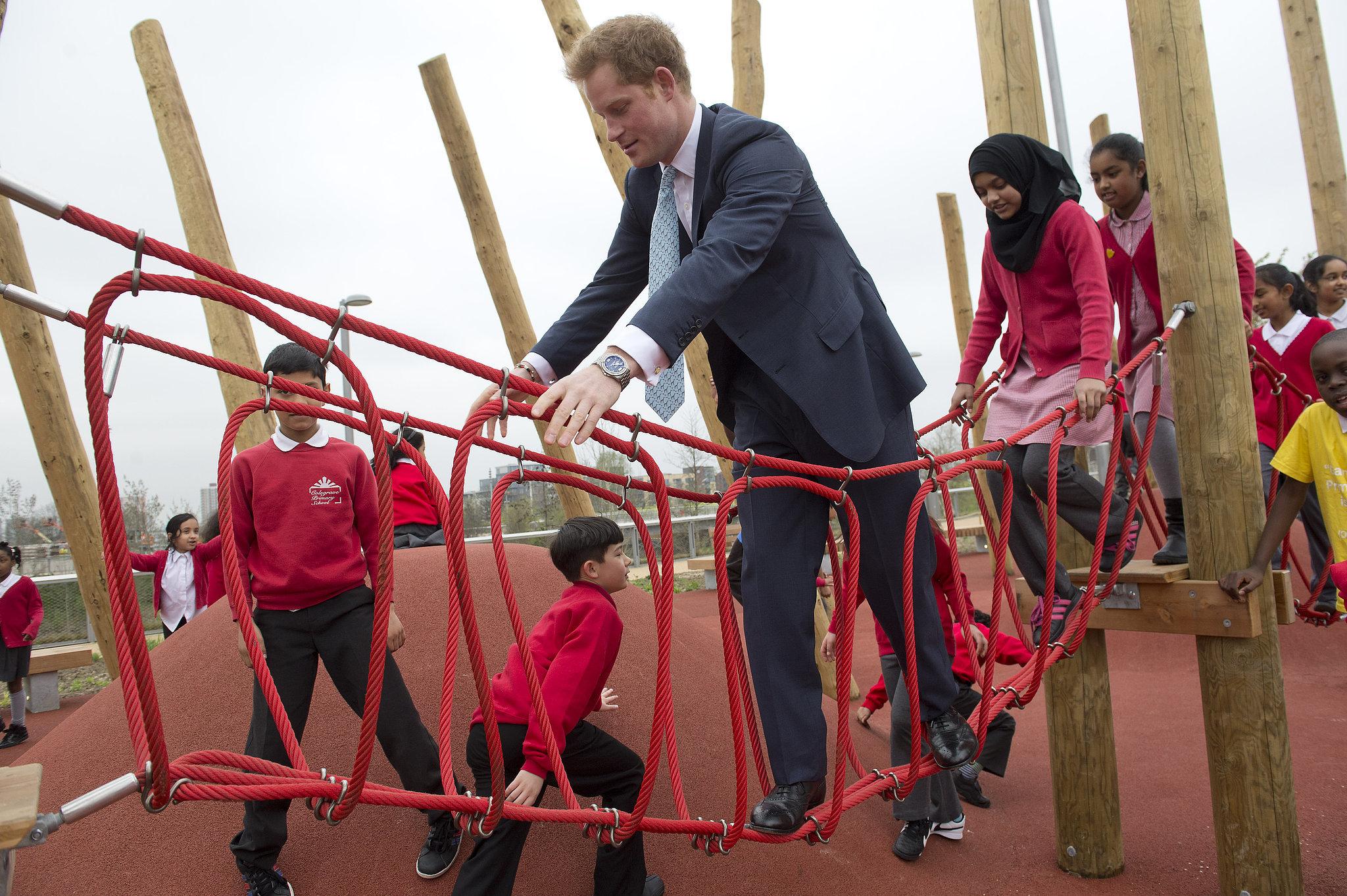 Prince Harry's Playground Antics Are Hilarious