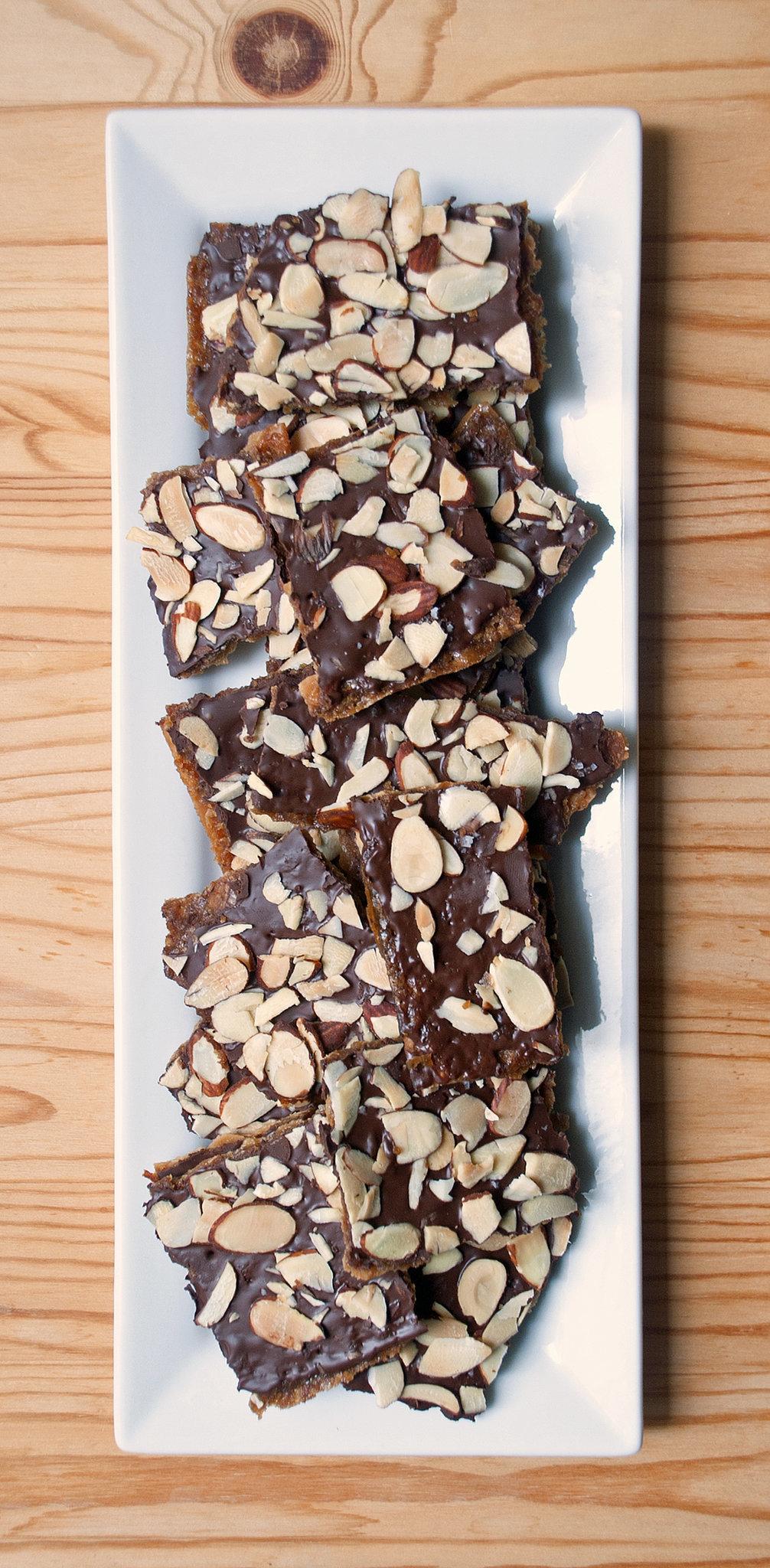 Chocolate-Covered Almond Matzo Toffee
