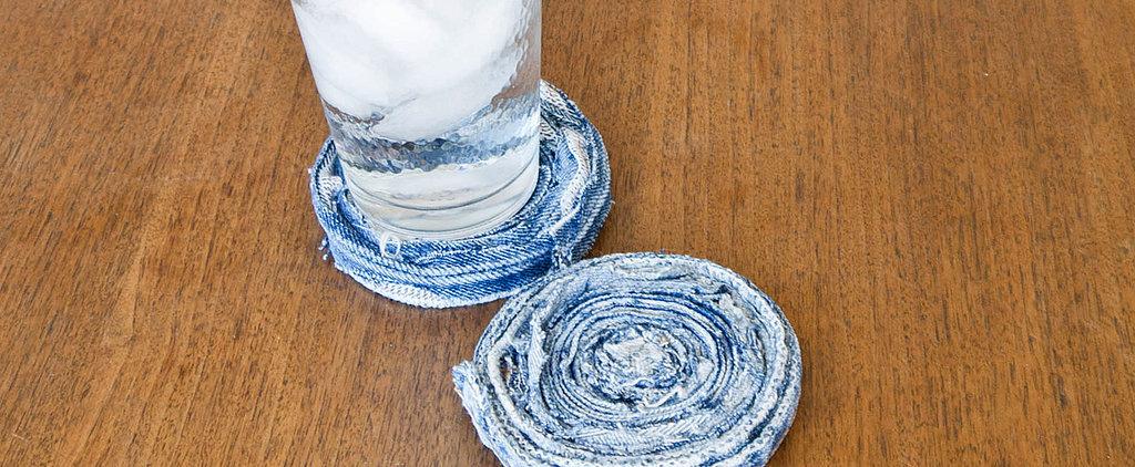 DIY These Cute Denim Coasters in Minutes