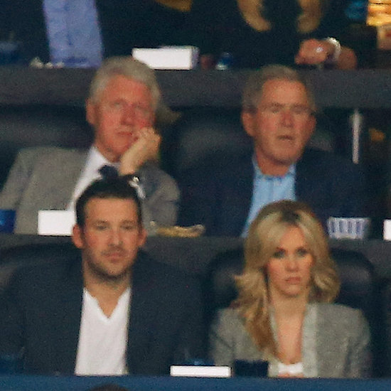 Bill Clinton and George W. Bush at the NCAA Finals 2014