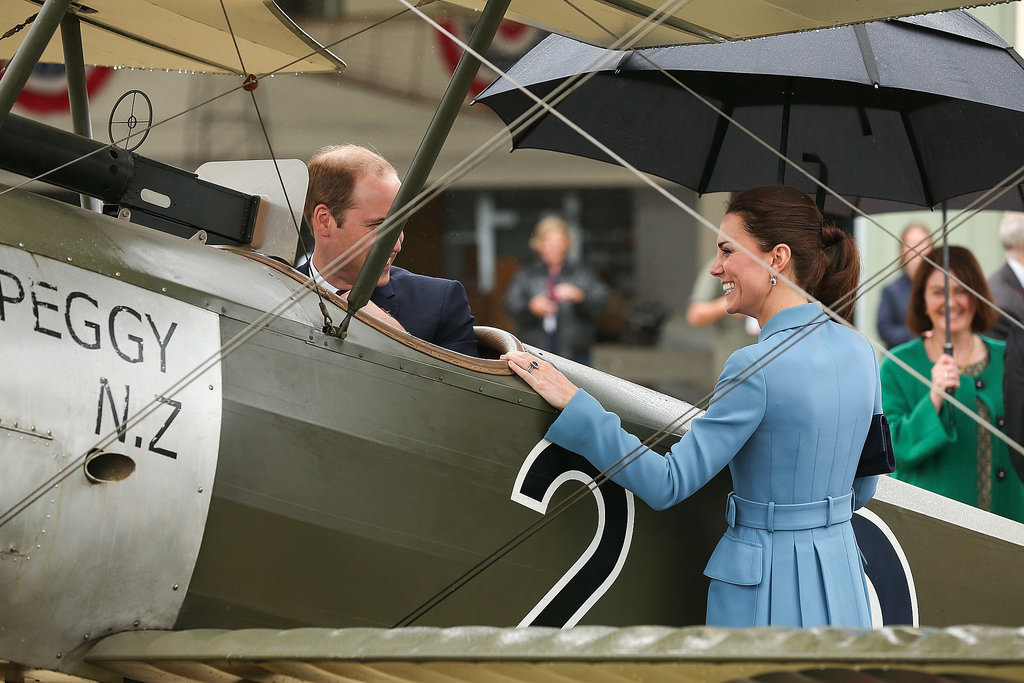 Kate and Will Don't Let a Little Rain Ruin Their Royal-Tour Fun